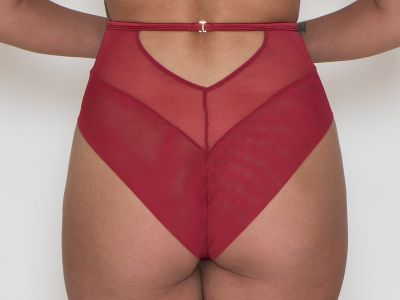 Scantilly by Curvy Kate Fallen Angel High Waist Brief Garnet Red  S-XL ST-012-208-GRD