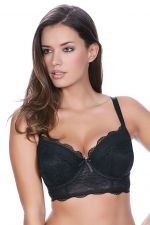 Fancies Longline Bra Black