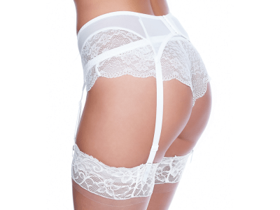 Freya Fancies Suspender White  S-XL AA1019