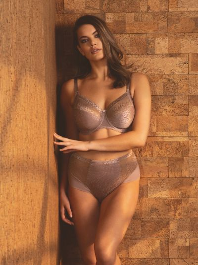 Fantasie Envisage Soft Side Support Bra Taupe Underwired, unpadded side support bra 65-90, D-L FL6911-TAE