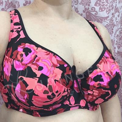 Nessa Swimwear Fidzi Padded Bikini Bra Floral Underwired, padded bikini top 70-90, D-N N056-509