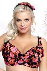 Nessa Swimwear Fidzi Padded Bikini Bra Floral-thumb Underwired, padded bikini top 70-90, D-N N056-509