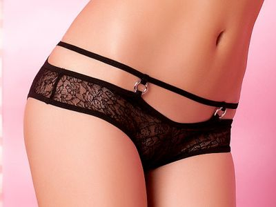Anaïs apparel Anaïs Flavia Brief Black Lace panty with decorative strap at waist XS - 3XL