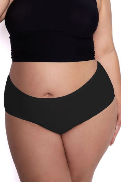 Julimex Flexi One Plus Size Maxi Panty Black  One size / 2XL-5XL FLEXI-PLUS-MAXI-CZA