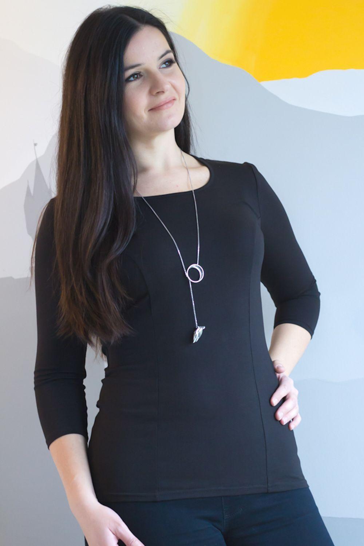 865a30abd8cd Urkye Francuzka Top 3/4 Sleeves Black | Lumingerie bras and ...