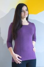 Francuzka Top 3/4 Sleeves Italian Plum