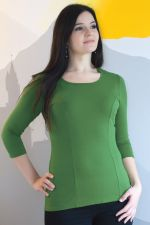 Francuzka Top 3/4 Sleeves Kale