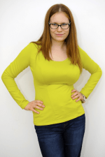 Francuzka Top Long Sleeved Lime Green
