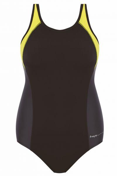 Freestyle UW Swimsuit Black Zest