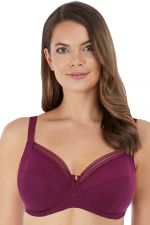 Fusion Soft Side Support Bra Black Cherry