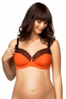Ginger Macaroon Underwired Nursing Bra-thumb