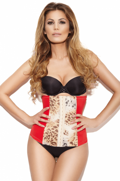 Ginger Waist Corset Red Panther