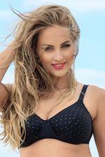 Glitter Bikini Bra Black