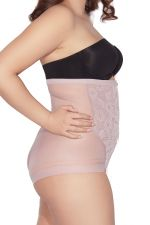 Glossy Hi Waist Brief Pink