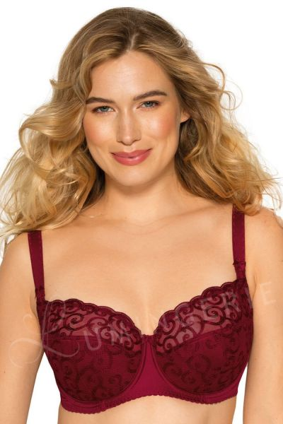 Gaia Lingerie Goldie Semi Soft Bra Rumba Red Underwired, semi soft bra 70-105, D-L BS-899-BOR