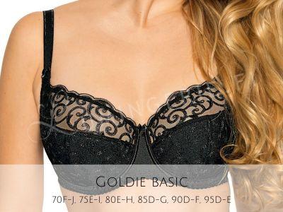 Gaia Lingerie Goldie Semi Soft Bra Black Underwired, semi soft bra 70-105, D-L BS-899-CZA