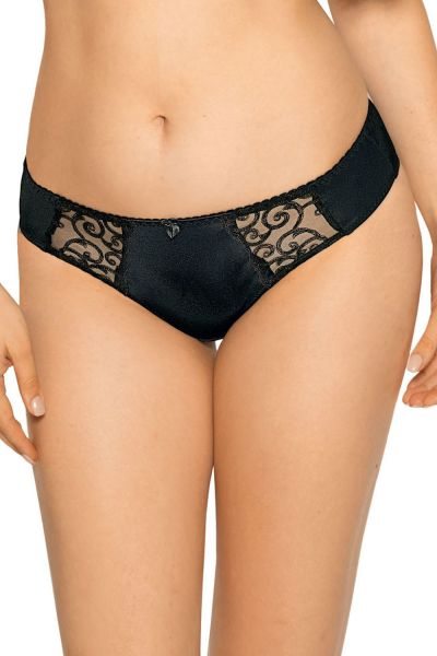 Gaia Lingerie Goldie Briefs Black Midi brief with normal waist M/38 - 4XL/48 GFP-899-CZA