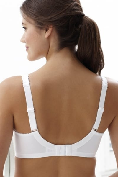 Royce Grace Bra Wirefree White Wirefree and unpadded full cup bra 70-95 D-FF 513-WHE