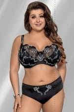 Grace Soft Bra Black and White