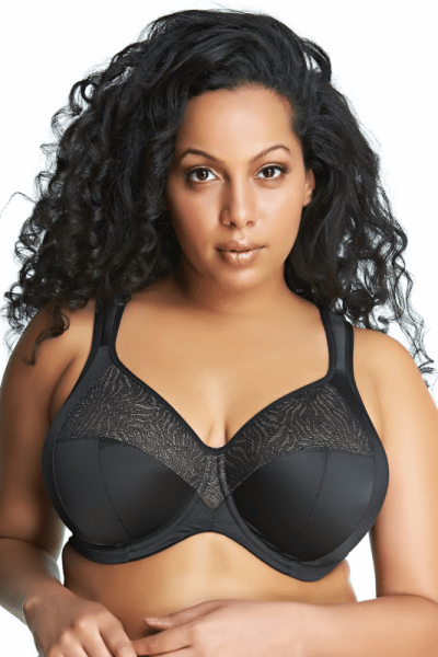 Heather UW Banded Bra Black