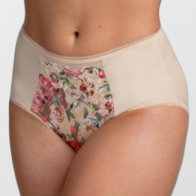 Miss Mary Heavenly Blossom Brief Red Floral Normal waist briefs EU 40-56 MM-4958-BEIGE