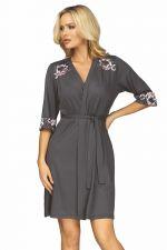 Helen Dressing Gown Grey-Pink