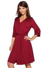Helen Dressing Gown Burgundy