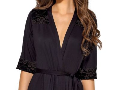 Helen Dressing Gown Black