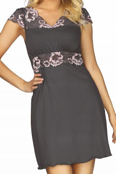 Hamana Helen Nightdress Grey-Pink  S-5XL
