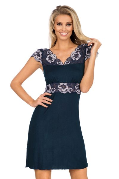 Hamana Helen Nightdress Navy  S-5XL