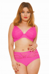 Hi Voltage Plunge Bikini Shocking Pink-thumb