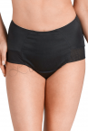 Holly High Waist Briefs Black-thumb