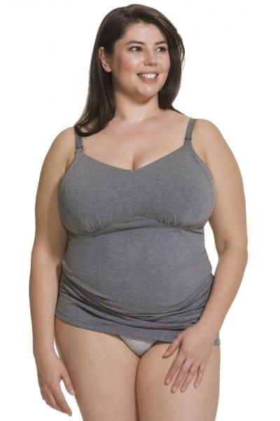 Cake Maternity  Ice Cream Nursing Tank Top Grey  S-XL 40-1041-59