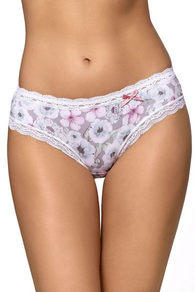 Ice Garden Briefs Grey Floral