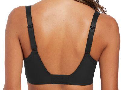 Fantasie Illusion Soft Side Support Bra Black Underwired, unpadded side support bra 65-95, D-M FL2982-BLK