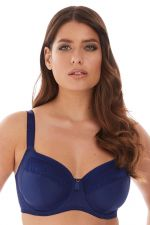 Illusion Soft Side Support Bra Navy