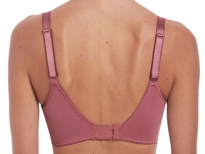 Illusion Soft Side Support Bra Rose