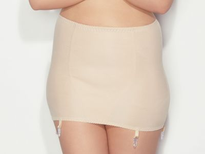 Mitex Ira Girdle Beige Boneless shaping girdle with four suspenders M/42 - 7XL/58