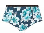 Island Lily Classic Bikini Brief Petrol Floral