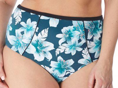 Elomi Island Lily Classic Bikini Brief Petrol Floral  40-52 ES7225-PEO