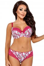 Islet Side Support Bra Pink Palm Print