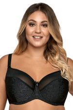 Jacquard Semi Soft Bra Black