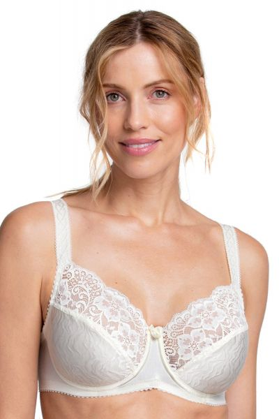 Miss Mary Jacquard Wave Wired Bra Champagne Non-wired full cup bra. 80-110 D-G MM-2452-CHA