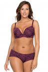 Jeanie Moulded Plunge Bra Panther Print-thumb