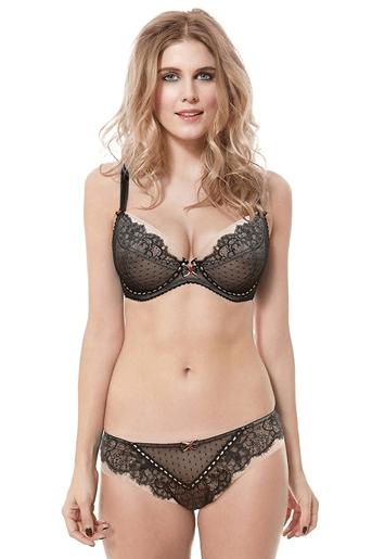 Jessica Plunge Bra Nude Black