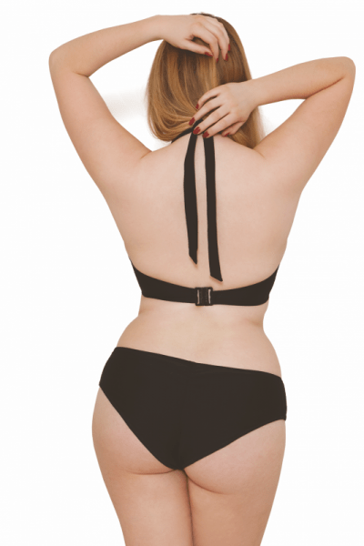 Jetty Halterneck Bikini Bra Black