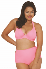 Jetty Halterneck Bikini Bra Flamingo