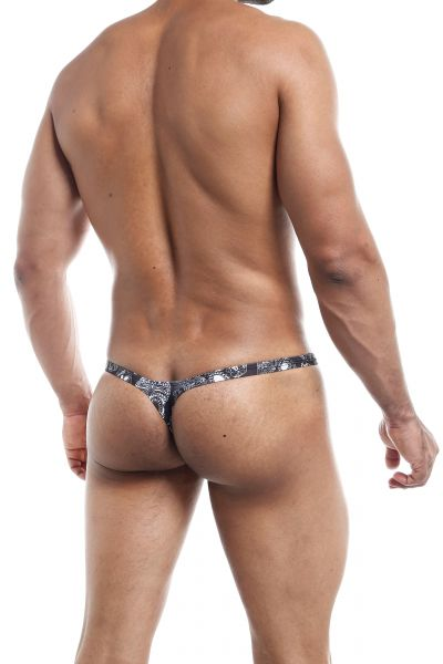 Joe Snyder Underwear Bulge Thong Skulls BUL02 Thong with a 2.5 cm back. Larger bulge pouch. 80% polyamid, 20% Lycra<br> S-XL BUL02_skulls