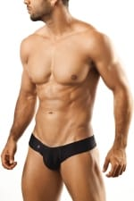 Shining Mini Cheek brief Black JS22