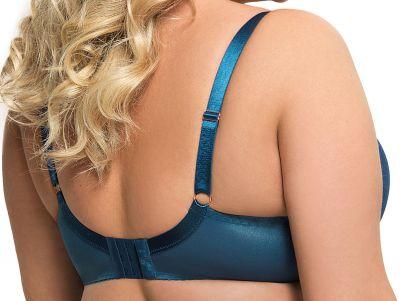 Gorsenia Karina Soft Bra Ocean Blue Underwired, non-padded bra 65-95, D-M K570